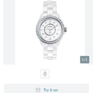 Chanel J12 Ceramic 38mm White Diamonds H3111